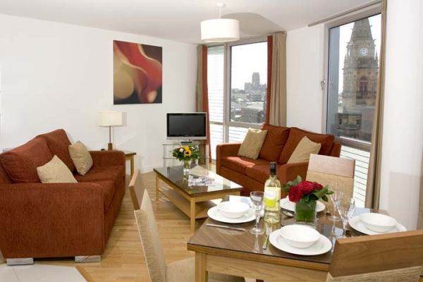 Hattan Garden serviced apartments in Liverpool lounge
